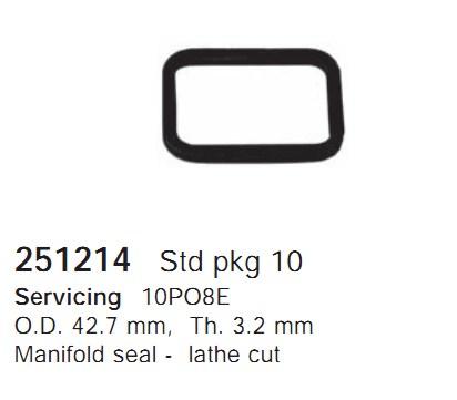 251214 Cargo Прокладка крышки компрессора