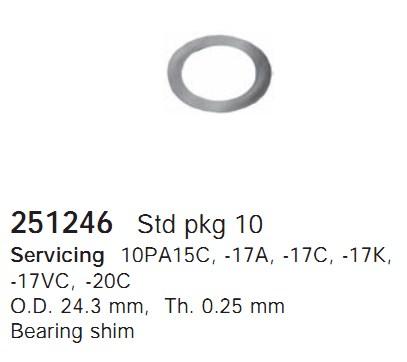 251246 Cargo Шайба компрессора