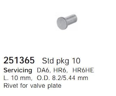 251365 Cargo Заклепки кондиционера