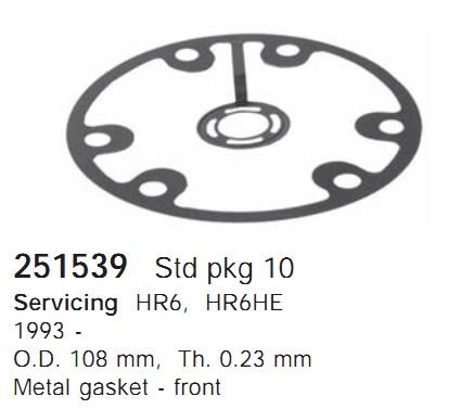 251539 Cargo Прокладка кондиционера