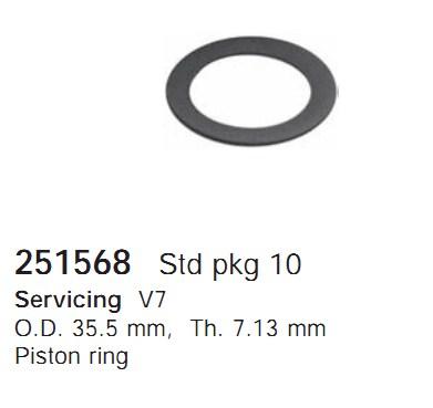 251568 Cargo Кольцо поршня кондиционера