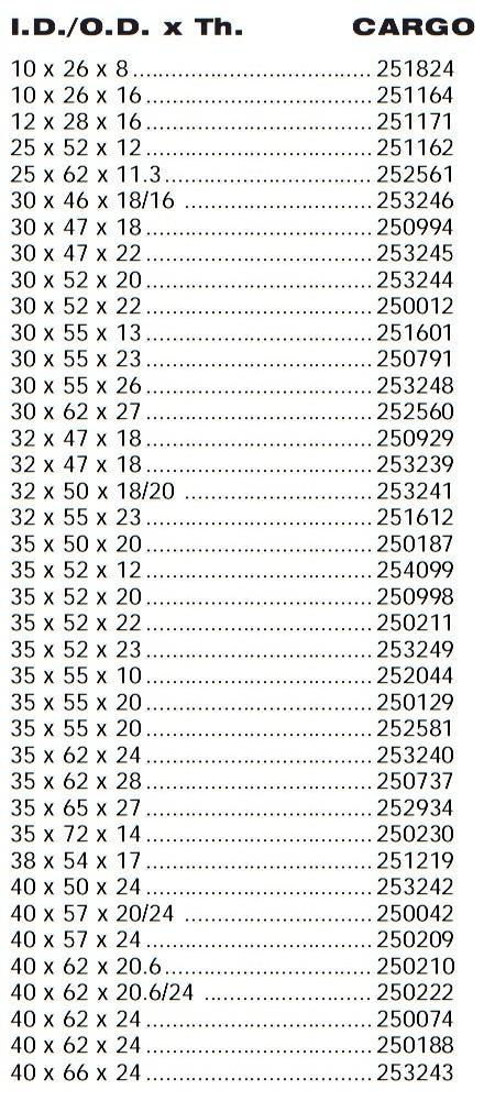 251612 Cargo Подшипник шкива компрессора