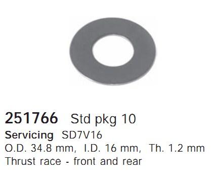 251766 Cargo Шайба упорная подшипника