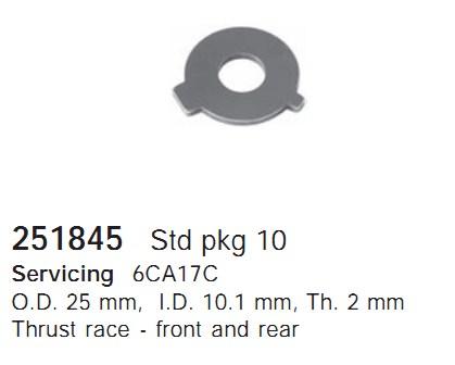 251845 Cargo Шайба упорная подшипника