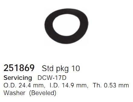 251869 Cargo Шайба компрессора
