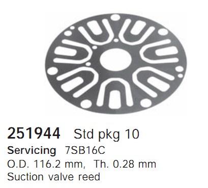 251944 Cargo Клапан-пластина кондиционера