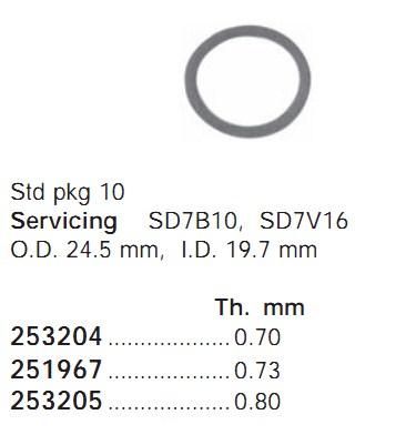 251967 Cargo Кольцо поршня кондиционера