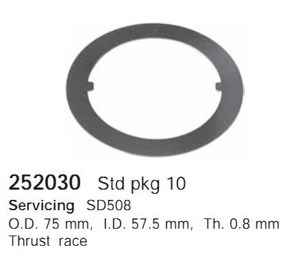 252030 Cargo Шайба упорная подшипника