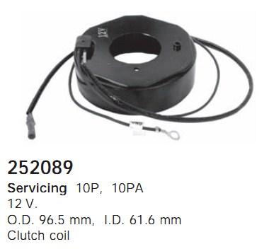 252089 Cargo Электромагнитная муфта компресcора