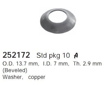 252172 Cargo Шайба компрессора