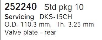 252240 Cargo Клапан-пластина кондиционера