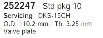 252247 Cargo Клапан-пластина кондиционера