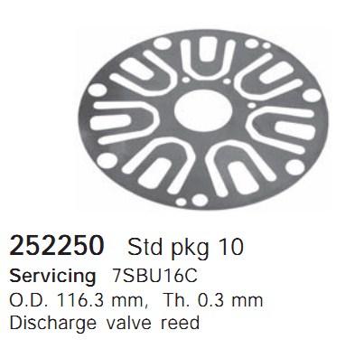 252250 Cargo Клапан-пластина кондиционера