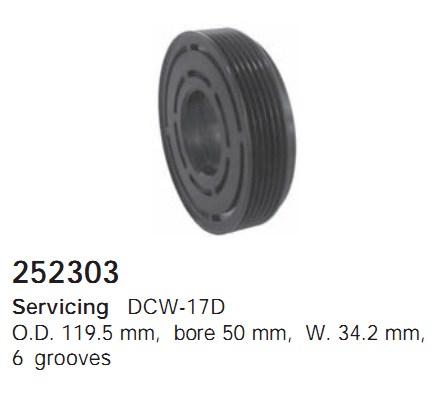 252303 Cargo Шкив компрессора