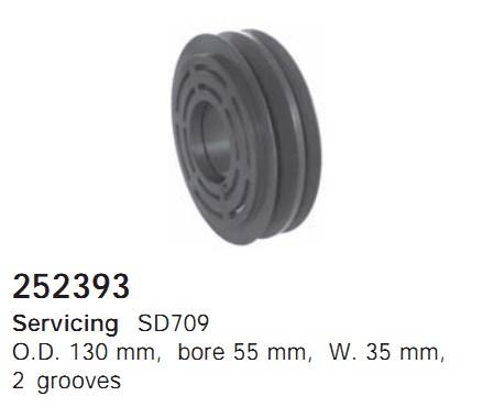 252393 Cargo Шкив компрессора