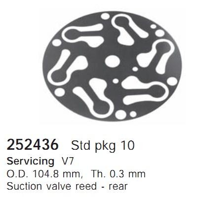 252436 Cargo Клапан-пластина кондиционера