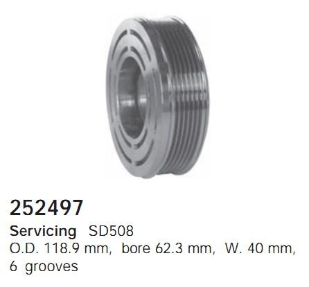 252497 Cargo Шкив компрессора