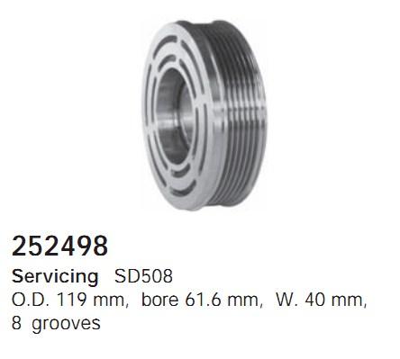 252498 Cargo Шкив компрессора
