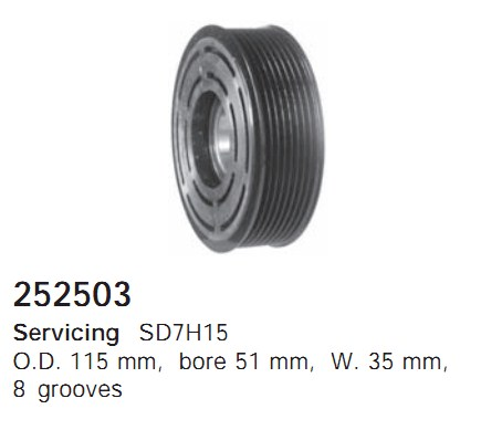252503 Cargo Шкив компрессора