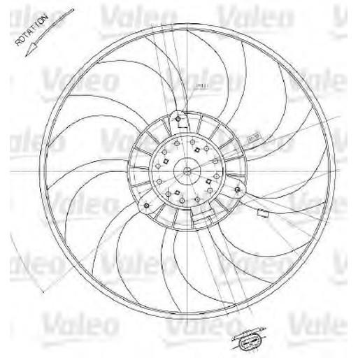 698412 Valeo Вентилятор радиатора